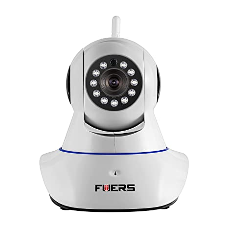 Security Camera, Fuers 2.4GWifi Wireless IP Camera Network Video Monitor HD 720P with 2-Way Talk,Night Vision,Motion Detection for Baby Pet Nanny ...