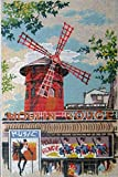 MOULIN ROUGE NEEDLEPOINT CANVAS #928.181 FROM SEG, CANVAS ONLY