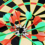 YAZOM Magnetic Dart Boards for Kids, Indoor Outdoor Party Games Dart Board Toy for Boys Girls Christmas Thanksgiving Presents Gifts Age 5-14 Safe Dart Game Set with 12pcs Darts