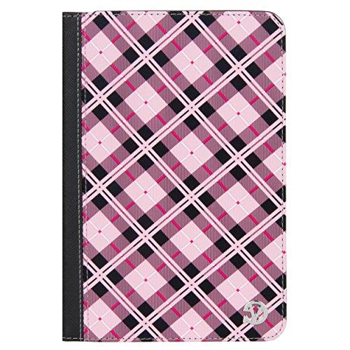 VanGoddy Slim Pink Plaid Portfolio Case Suitable for Amazon Fire 7, HD 8, Kindle Paperwhite