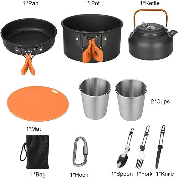 Awroutdoor Camping Kochgeschirr Kit Outdoor Aluminium Leichte ...