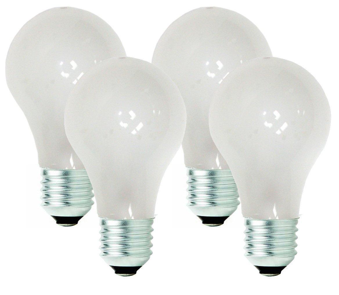 TCP 40 Watt Equivalent 4 pack Value Halogen A19 Light Bulbs Dimmable Soft White 442229B4V