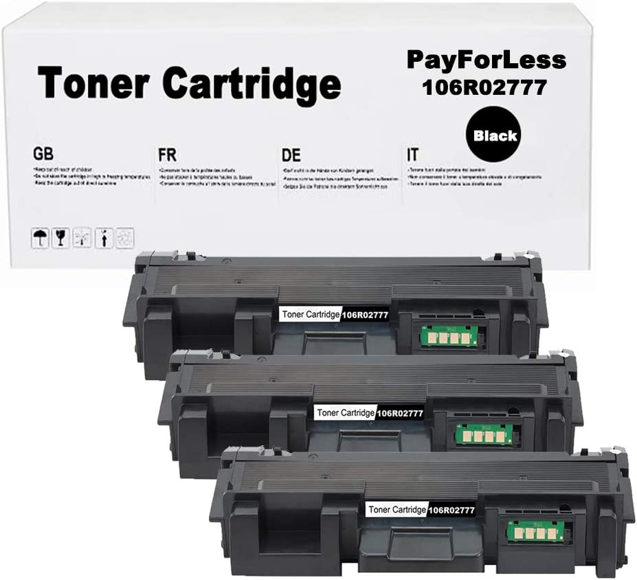 PayForLess Toner Cartridge 106R02777 Black 2PK Compatible for Xerox Phaser 3052 3260 3260DNI WorkCentre 3215 3225
