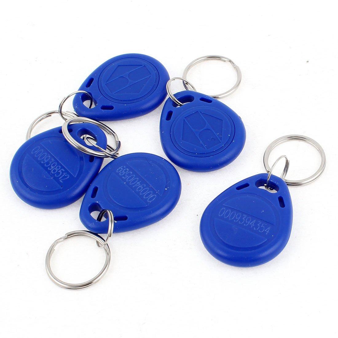 5 piezas EM4100 125Khz proximidad RFID ID Card etiquetas Llaveros etiqueta de azul
