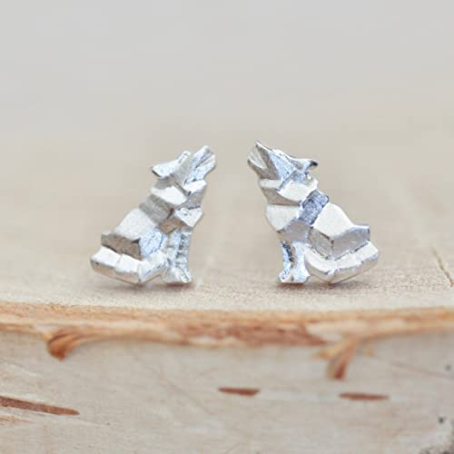 Amazon Origami Wolf Earrings In Sterling Silver Jamber Jewels