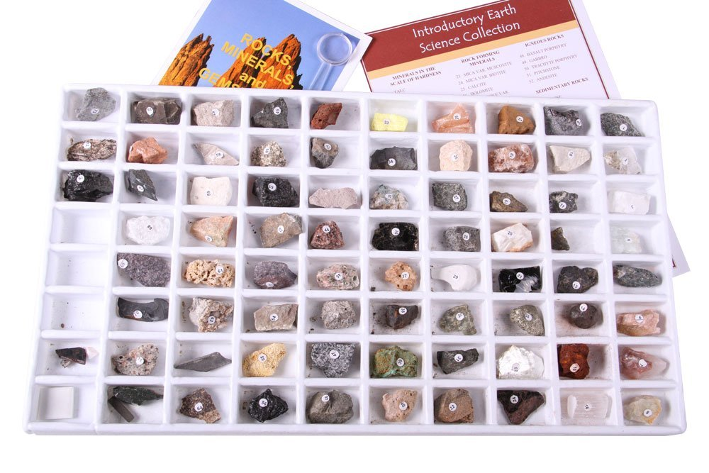 Geosciences Industries 13357 Introductory Earth Science Classroom Rocks and Minerals Collection (Renewed)