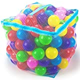 200 Jumbo 3 in Multi-Colored Soft Ball Pit Balls with Mesh Carrying Case by Imagination Generation