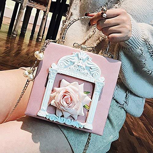 Di Ahimitsu Pelle Pink Spalla Sera Totalizzatore Fiore Nuziale Donne Da Del Sacchetto Donne A La Borse Stampa Tracolla In Borsa Cerimonia Per Ecc Delle Promenade Pu Partito zwzrqZvF