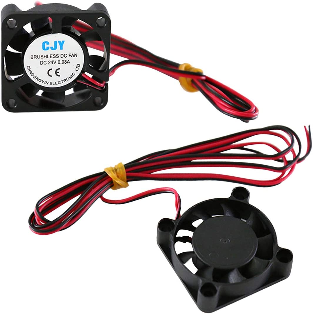 NoyoKere 24V DC Ventilateur De Refroidissement sans Brosse 30mm 40x40x10mm pour DIY Imprimante 3D Extrudeuse V6 V5 CPU Arduino