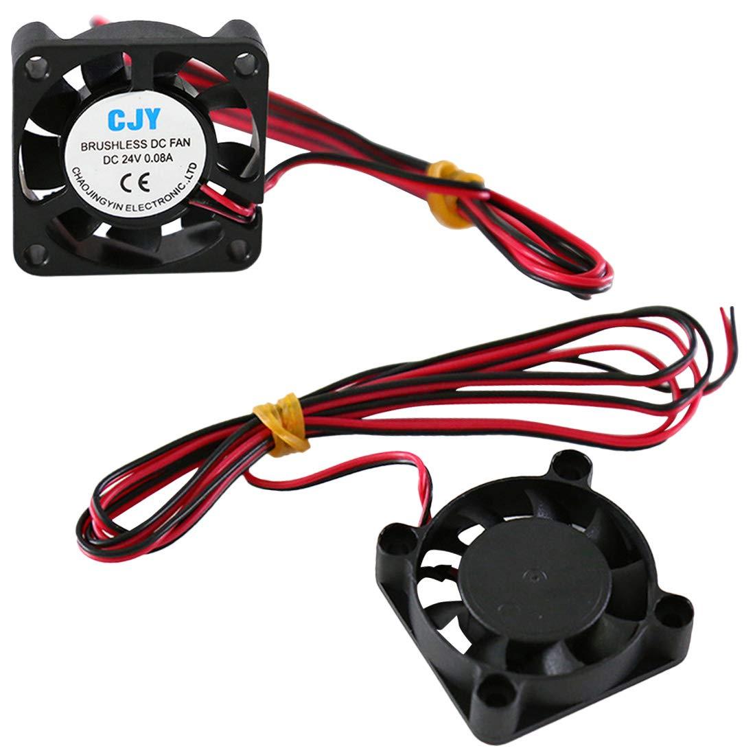 NoyoKere 24 V DC Sin escobillas Ventilador de enfriamiento 30mm 40x40x10mm para DIY Impresora 3D Extrusora V6 V5 CPU Arduino