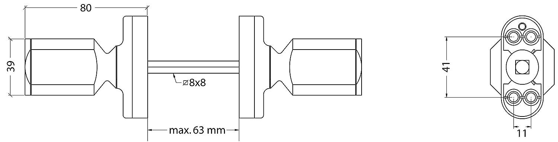 Cambesa BL4500PL Pomo Puerta Plata