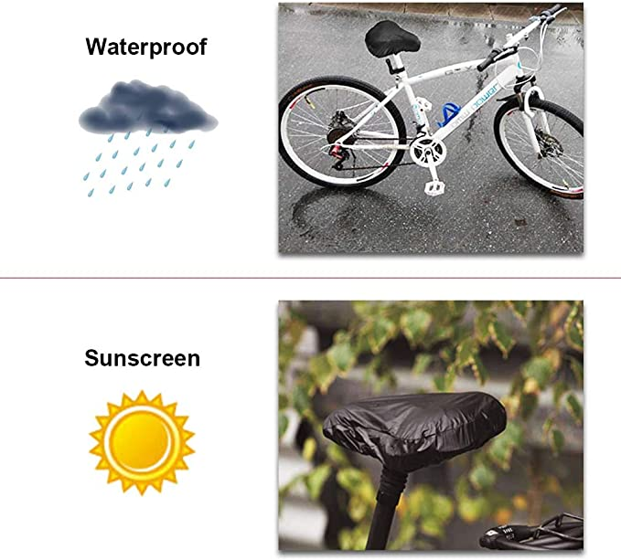 Bike Seat Waterproof Rain Cover And Dust Resistant Saddle Bicycle N1V1