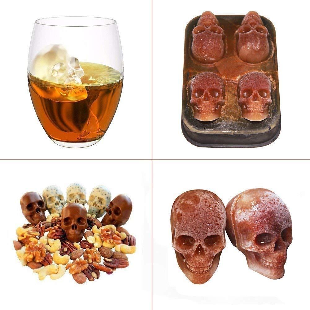 ZN&Z® Molde de Silicona 3D para Tartas, Cubitos de Hielo, 2 Piezas, Creativo para Hacer azúcar y Chocolate, para Hacer Whisky en la Barra o para cóctel, ...
