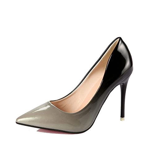 5154e4f6cd0 2018 Summer Women Pumps Fashion Pointed Toe Patent Leather Stiletto high  Heels Shoes