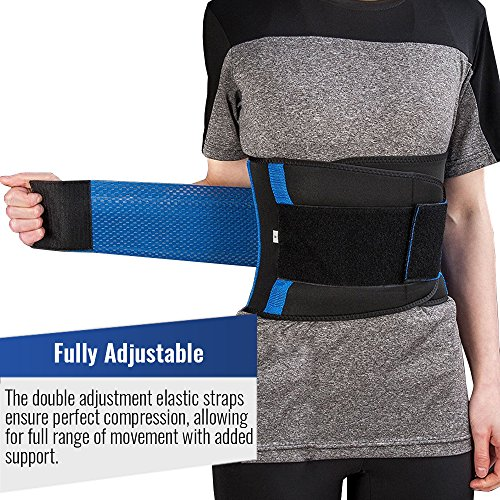 Iron Bull Strength Medi-Gear Back Brace - Lumbar Support Belt for Lower Back Pain - Posture Corrector and Stabilizer with Dual Adjustable Straps (Medium) by Iron Bull Strength (Image #2)
