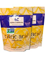Non-GMO Project Verified Citric Acid - 10 Pounds (2-5 lb bags) - Organic, 100% Pure - Alpha Chemicals