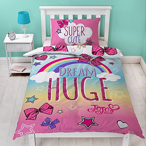 Price comparison product image Jo Jo Siwa Bows Cute Single Panel Duvet Cover Bed Set