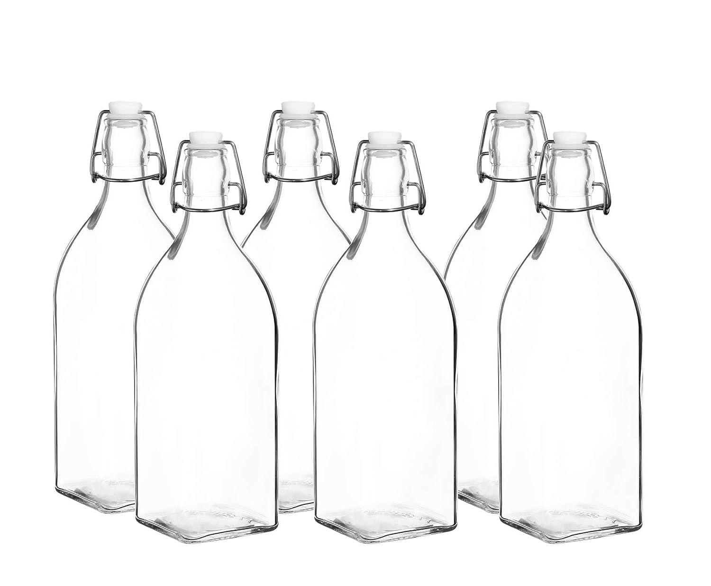 Botellas de agua de cristal reutilizables con tapa a prueba de ...