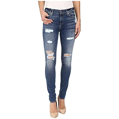 7 For All Mankind Women's Skinny Distressed Destroy Jean Ankle Pant: Clothing