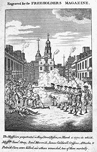 Boston Massacre 1770 Nan English Engraving Directly Inspired By The American Engravings Of Paul Revere And Henry Pelham Published At London England In May 1770 Poster Print by (18 x 24)