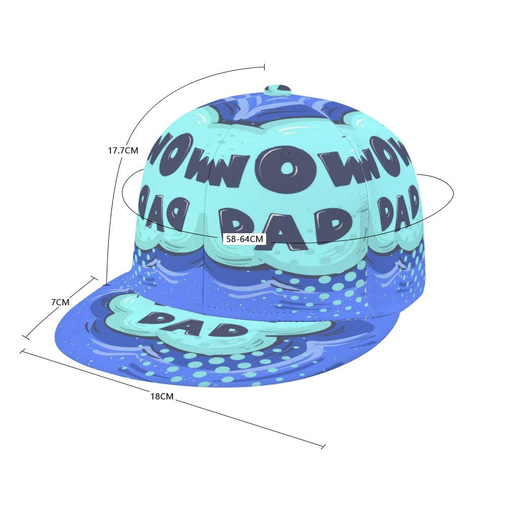 Dongi Unisex Full-Print Flat Rubber Ball Cap can Adjust Hip-hop Style