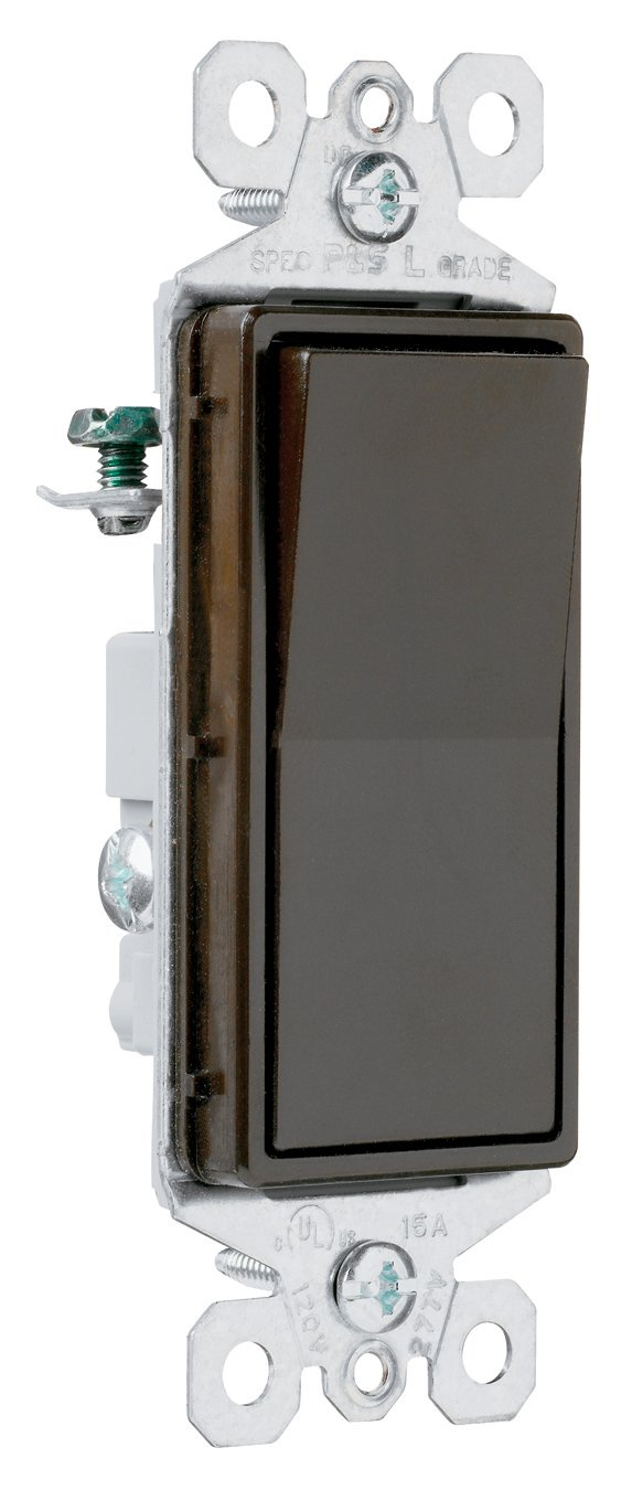 Pass & Seymour TM874WCC6 Four-Way Decorator Switch 15-Amp 120/277-Volt, Grounding, White Pass & Seymour/Legrand