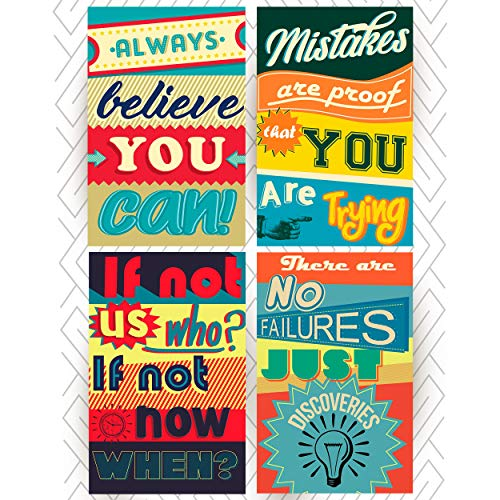 Posters for Classroom or College Posters Art Prints Motivational Inspirational Quotes. Positive Vibes Wall Poster Arts. Set of Four Posters, Home Decorating Ideas, Birthday Gifts or Gifts for Men