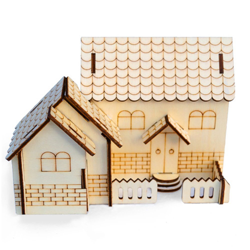 ファッションなデザイン 3D ジグソーパズル 3D ハウス 木製 ウッドクラフト 教育製品 DIY デスクトップ 木製モデルキット 組み立てモデル パズル 木製 ハンドクラフト 教育製品 ハンドメイド B07G2MBWTT, qoob[キューブ]大きいサイズの店:1ea1d3c8 --- a0267596.xsph.ru