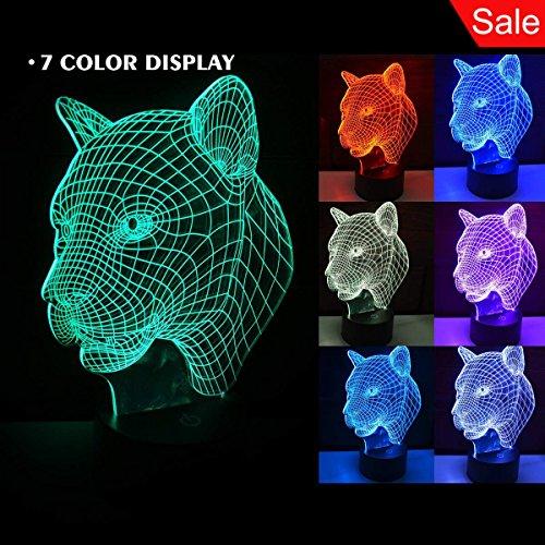 leopard table lamp - 8