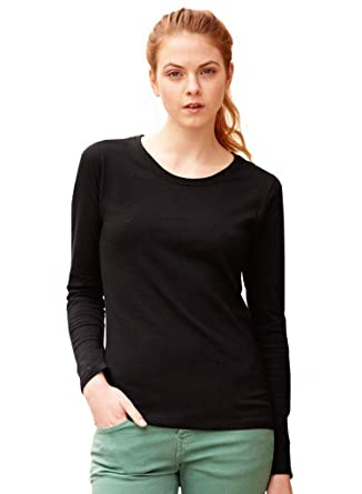 c9da6a860ba Fruit of the Loom Lady Fit Valueweight Long Sleeve T-Shirt: Amazon ...