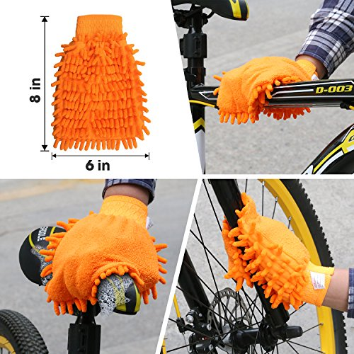 SINGARE 7pcs Bicycle Cleaning Tools Set, Bicycle Clean Brush Kit Suitable Mountain, Road, City, Hybrid, BMX Folding Bike by SINGARE (Image #5)