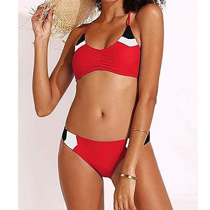 581b0b443d Amazon.com: Yliquor Women Patchwork Bandage Two Pieces Bikini Swimsuit  Beachwear Set SwimwearComfort Bathing Suit Fantastic Swimsuit Beach Cute  Hipster ...