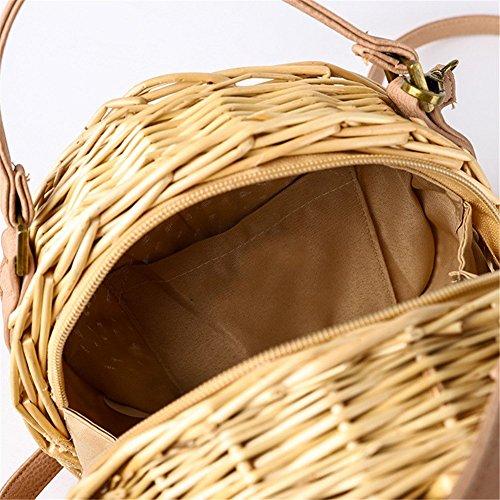 Gorgebuy 16 bambú al Hombro 14 Inch 76 Mujer Bolso para 2 rrBPwpq