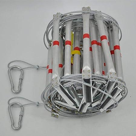 Impermeabile//Wearable//Durevole Ganmaov Scala antincendio Self-Help Scala Scala Retrattile demergenza Filo Lega di Alluminio Acciaio