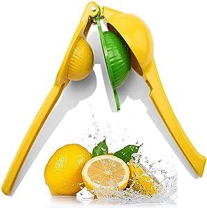 Lemon Lime Squeezer, Metal Manual Citrus Press Juicer, Professional Hand Juicer Kitchen Tool, For Oranges, Lemons, Citrus, Grape Watermelon, Etc (2-in-1)