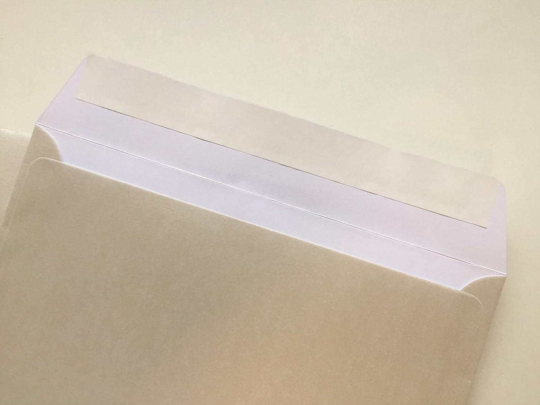 50 sobres de nácar, de color perla, White de Pearl, C6 = 162 x 114 mm, cierre autoadhesivo con tira, Premio: 100 g/m² Premio: 100 g/m² umschlag-discount OT-16300401-50