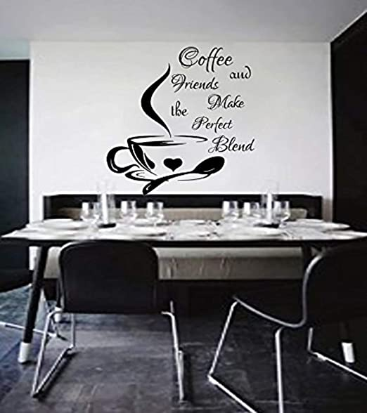 Amazon.com: Amazing Home Decor- Coffee Wall Decals Cup ...