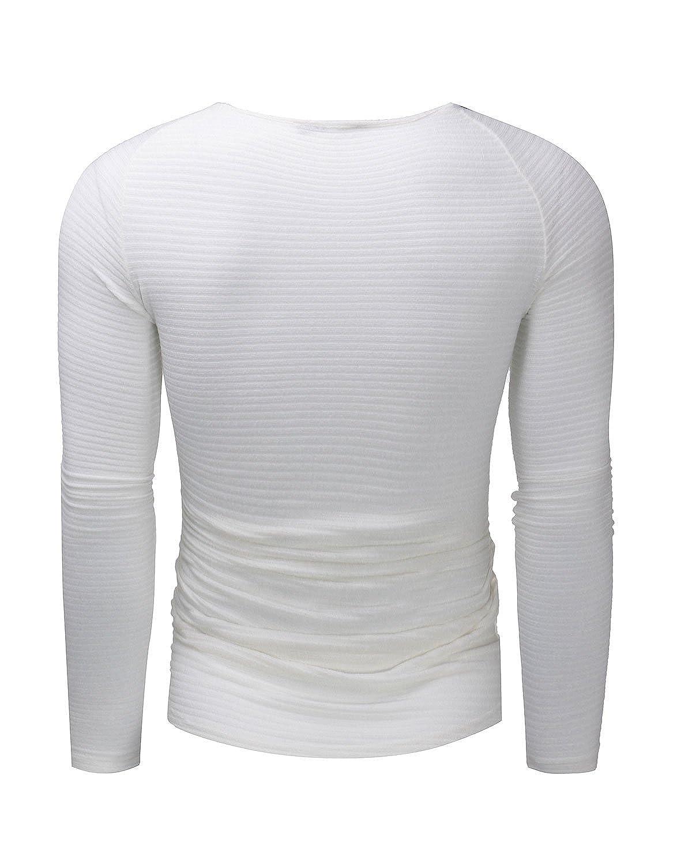 MODCHOK Homme T-Shirt Manche Longue Top Tee Shirt Pull Sport Basic Slim Fit  MODCHOKCaaomufaFR1283 80c766009f33