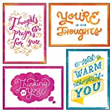 12 Boxed Thinking of You Greeting Cards - Thoughts of You - KJV Scripture Included in Each Card! Bulk Thinking of You Cards & 12 Envelopes Boxed Cards