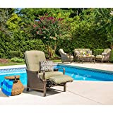 Hanover VENTURAREC Ventura Indoor/Outdoor Recliner with Accent Pillow