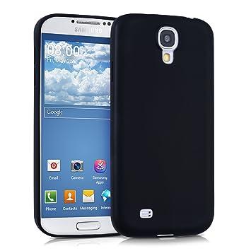kwmobile Funda para Samsung Galaxy S4 - Carcasa para móvil en TPU Silicona - Protector Trasero en Negro Mate