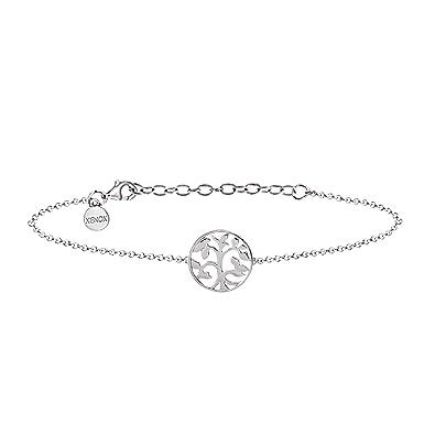 18ae0ad39f3b XENOX XS2897 Damen Armband Lebensbaum Symbolic Power Sterling-Silber 925  Silber 20 cm  Amazon.de  Schmuck