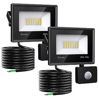 Onforu 20w Foco LED con Sensor de Movimiento (2 Pack), 1800LM ...