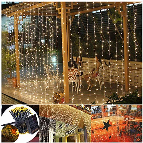 Outdoor Solar Curtain Lights in US - 4