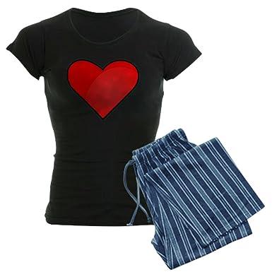 amazon com cafepress red heart drawing pajamas womens novelty