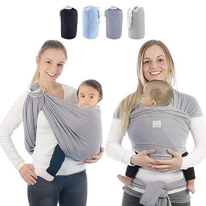 babybino – Pañuelo portabebés Wrap Premium calidad ergonómico soporte para recién nacidos