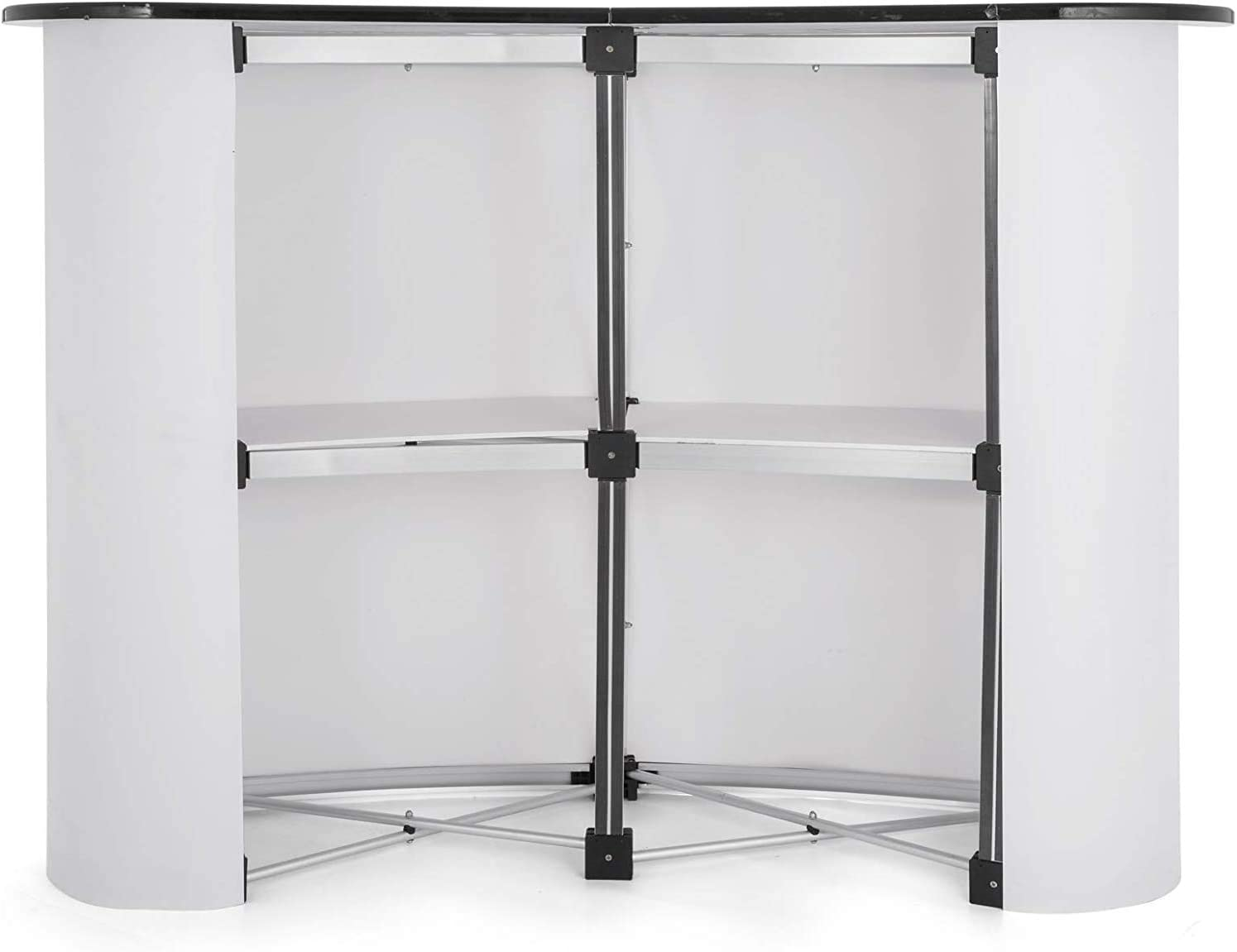 Tension Frame Display Trade Show Pop Up Table High Counter Portable Speech Stand Promotion Foldable Podium Table Stand
