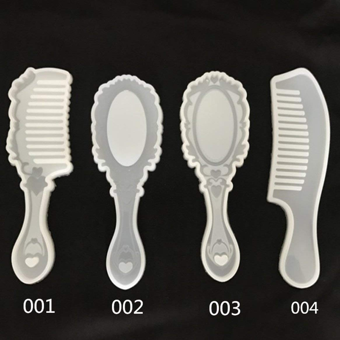 Delicacydex Non-Toxique Conception Peigne S/érie Silicone Moule R/ésine /Époxy Bijoux Fabrication Outils Cosm/étiques DIY Main Artisanat Moule