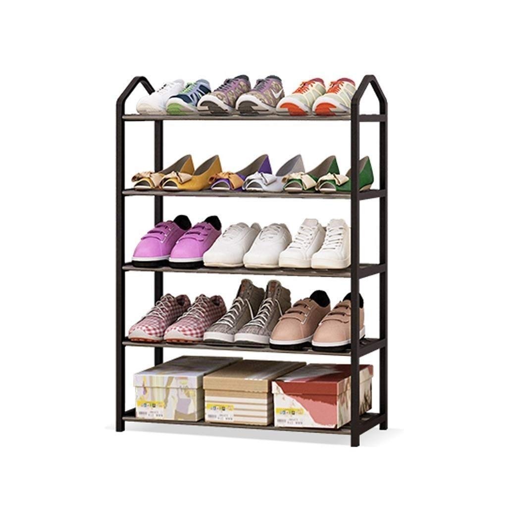 SCDXJ Shoe Rack - 4-Tier Shoe Rack Metal Shoe Tower 20-Pair Shoe Storage Organizer Unit Entryway Shelf Stackable Cabinet with 4 Tiers Durable Metal Shelves by SCDXJ