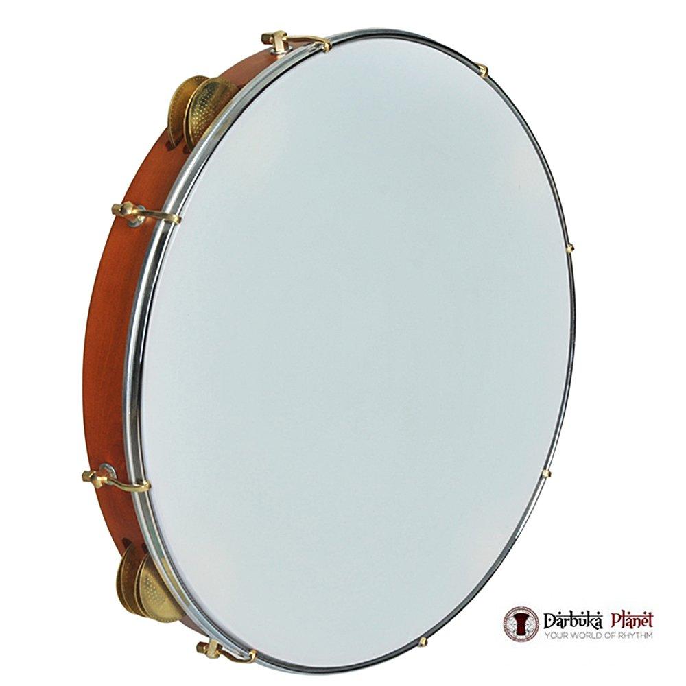 The 18'' Zaza Percussion Professional Wood Bandir Dof - 16 Cymbals
